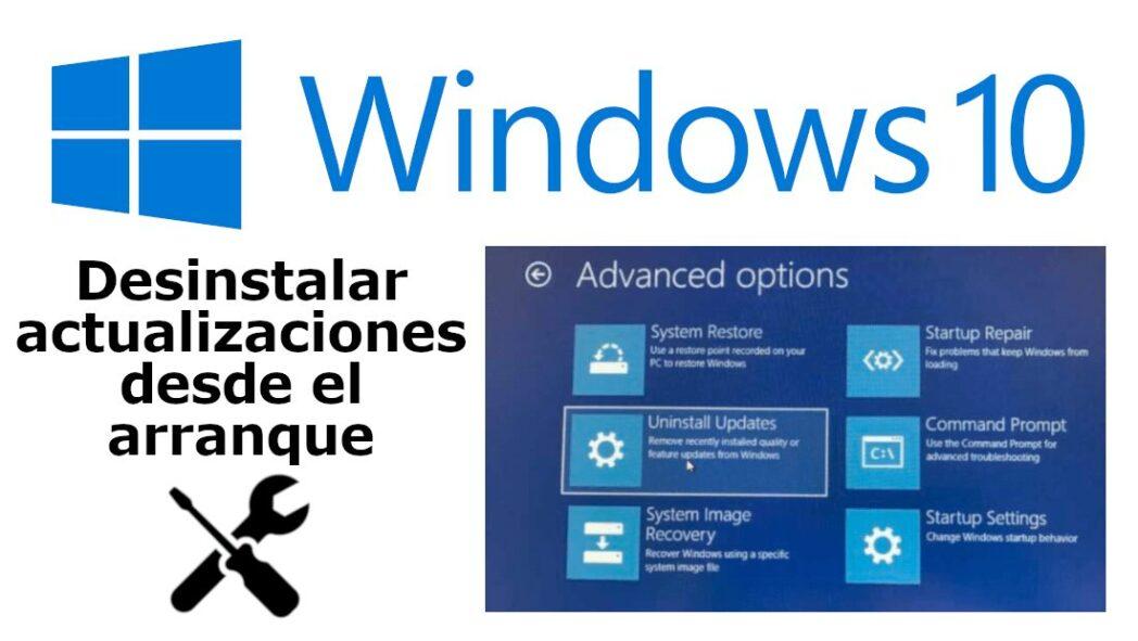 como desinstalar las actualizaciones de windows si causan errores