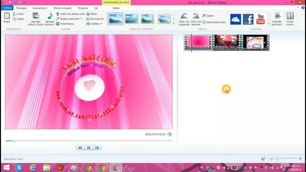 como editar videos con windows movie maker