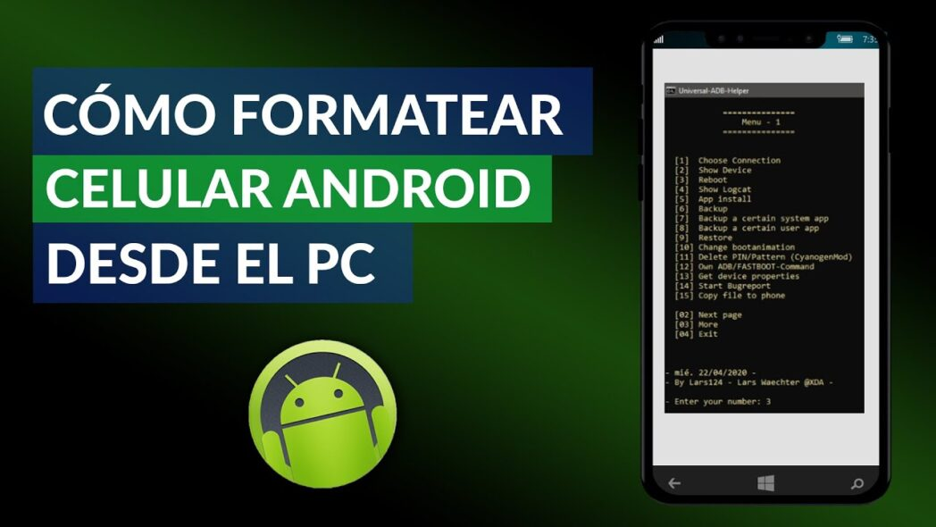 como formatear android cell desde pc