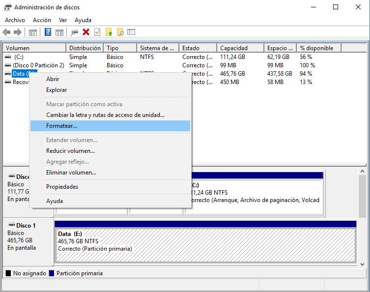 como formatear un disco duro o ssd para eliminar todo de su computadora