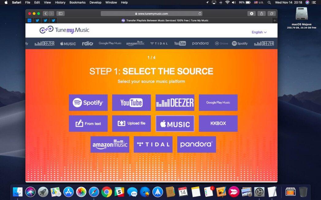 como mover listas de reproduccion entre servicios de transmision de musica