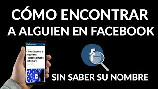 como no encontrar en facebook