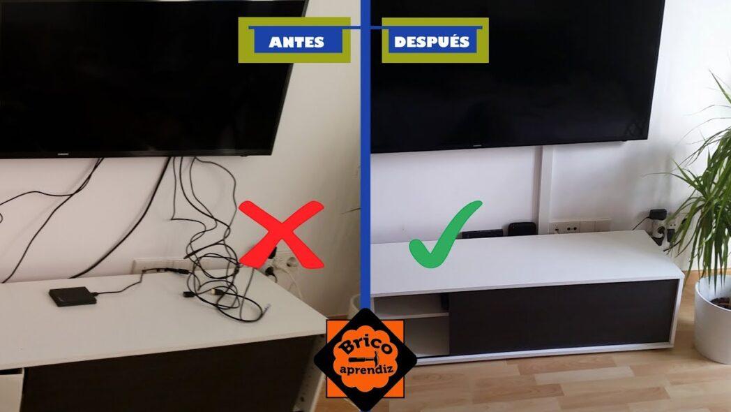 como ocultar los cables de la computadora y la television