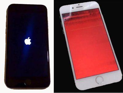 como reiniciar el iphone atascado con pantalla roja y azul
