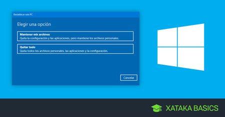 como restablecer windows 10 restablecer pc