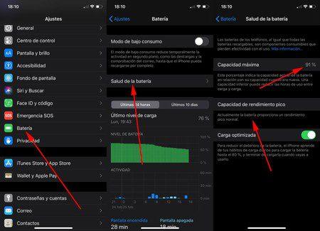 como ver el estado de la bateria en android y iphone