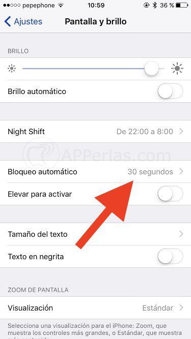 configurar bloqueo de pantalla en iphone