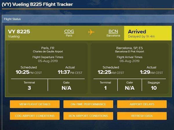 consultar horarios de llegada y salida de vuelos retrasos y cancelaciones