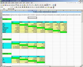 conversion de unidades de medida en una pc peso longitud temperatura etc