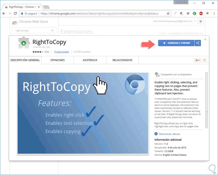 copiar texto de sitios que bloquean la copia clic derecho deshabilitado