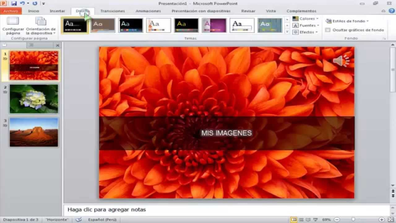 crea fotos videos musica efectos como presentaciones de diapositivas
