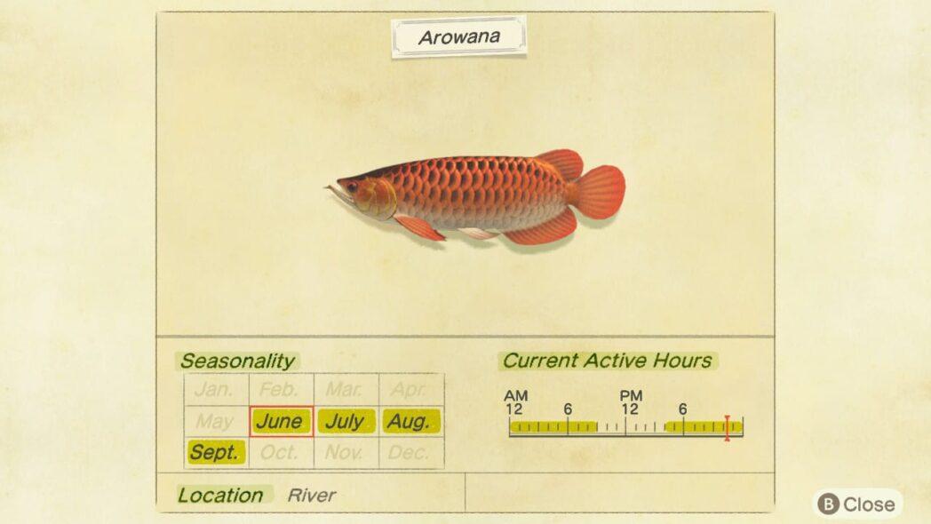 cruce de animales new horizon peces e insectos de octubre