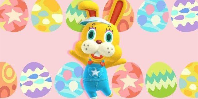 cruce de animales nuevos horizontes encuentra huevos para el dia del conejo