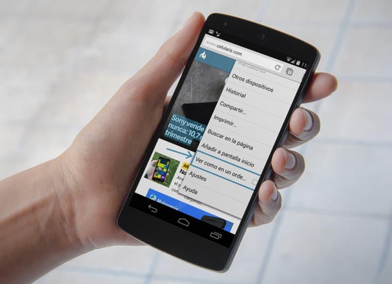 desactive la version movil del sitio en su telefono inteligente