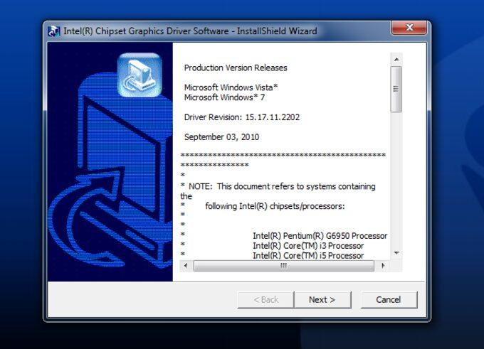 descargue los controladores intel hd graphics actualizados