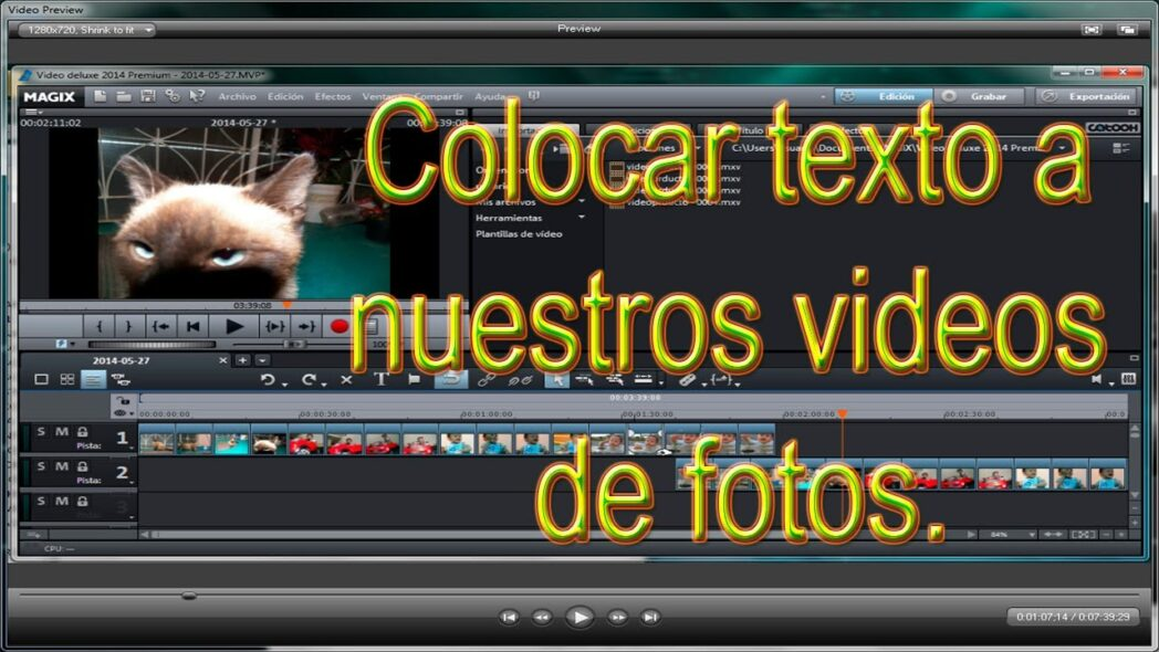 edita videos con texto fotos y musica simple y gratis