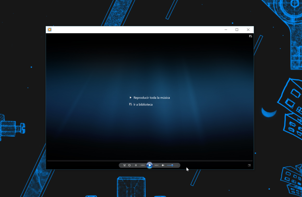 en la aplicacion windows 10 groove music en lugar de wmp