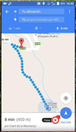 encuentre estacionamientos taxis paseos y direcciones en google maps