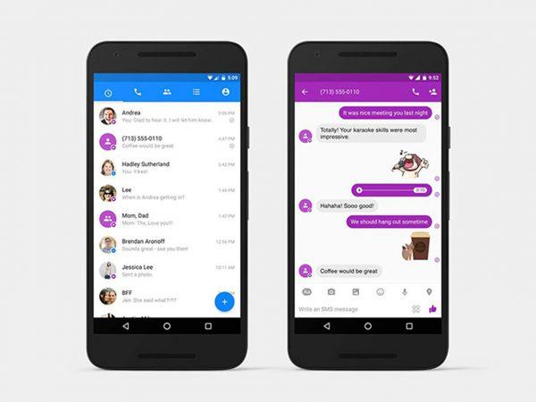 envia y lee sms usando facebook messenger