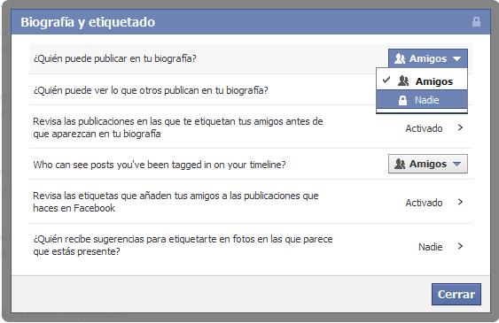 evite que sus amigos publiquen en nuestro perfil de facebook