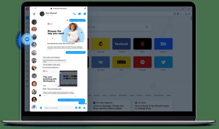 facebook web messenger para chatear desde un navegador de pc como un telefono movil