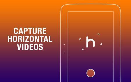 grabe siempre videos en horizontal con la aplicacion horizon
