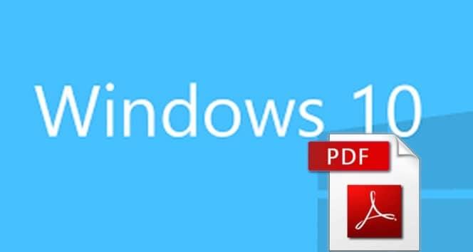 guarde cualquier documento o imagen en windows 10 en pdf