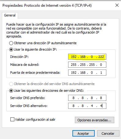 guia dhcp asignar una direccion ip manualmente o dejar una direccion ip automaticamente