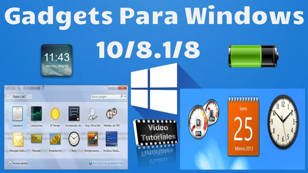 instalar gadgets de escritorio en windows 10 8 1