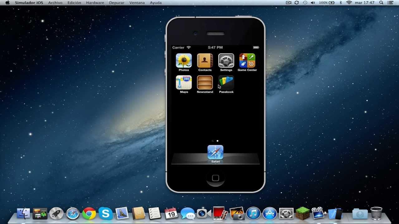 instale el emulador de ios en su mac