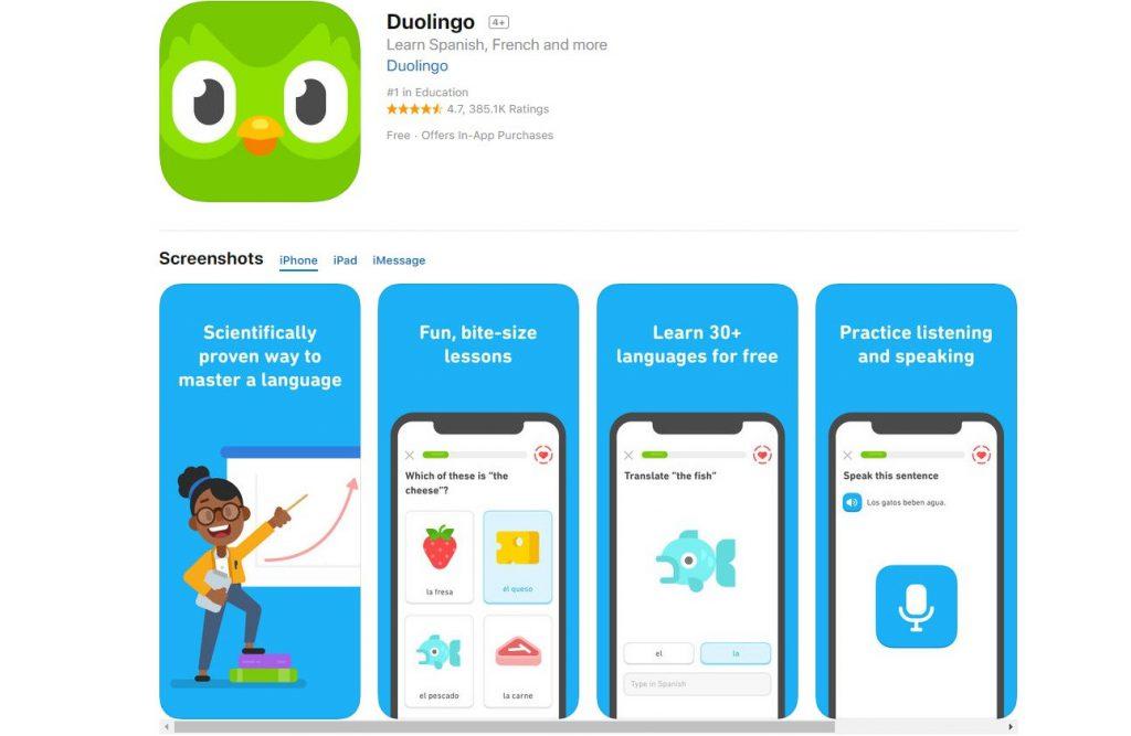la mejor aplicacion para aprender ingles u otros idiomas en android y iphone
