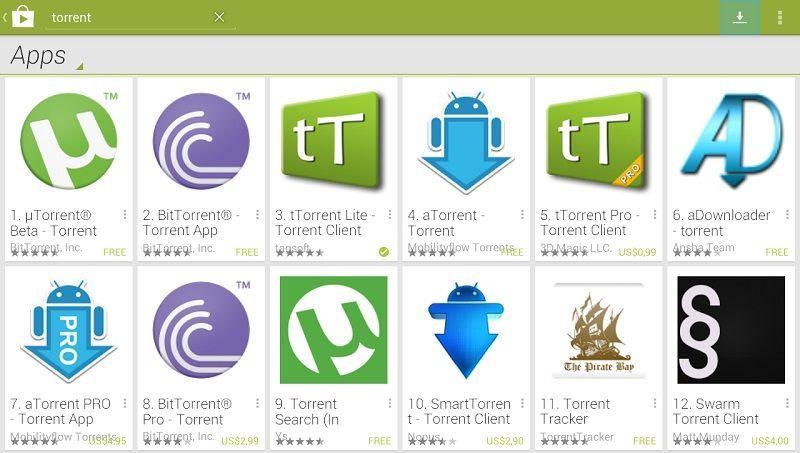 las mejores aplicaciones para descargar archivos torrent desde android