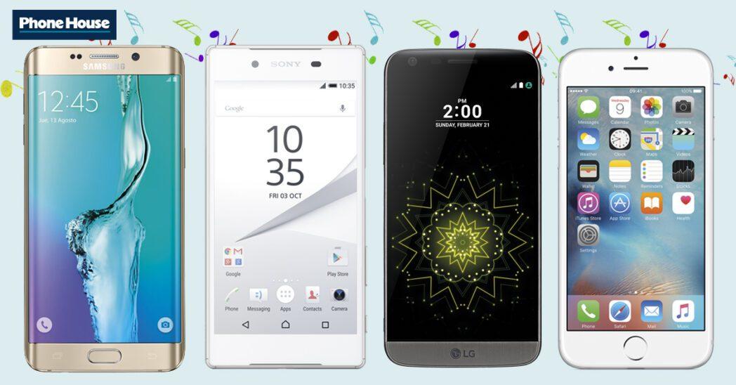 los mejores telefonos inteligentes para escuchar audio y musica