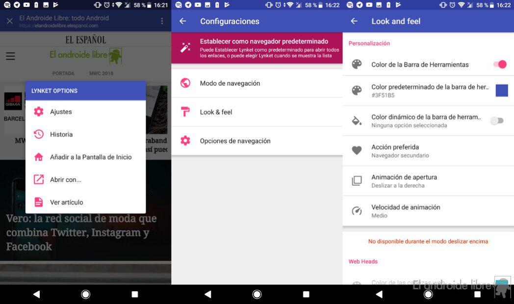 lynket browser para android abre paginas web sin salir de las aplicaciones