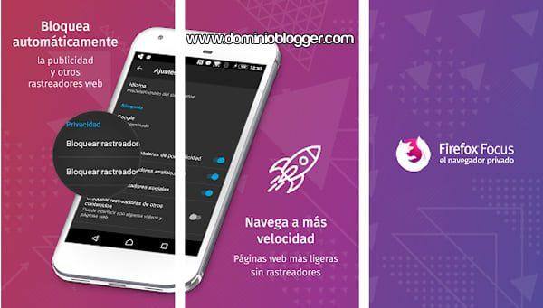 navegar sin anuncios redes sociales y otros marcadores con firefox focus para android y iphone
