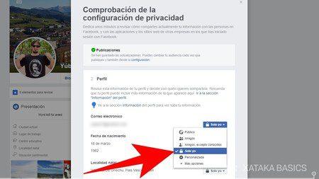 ocultar me gusta e informacion personal en facebook