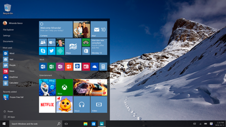 personalizar el menu de inicio de windows 10