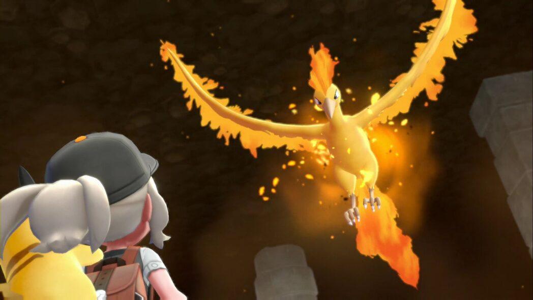pokemon lets go donde encontrar el legendario pajaro moltres