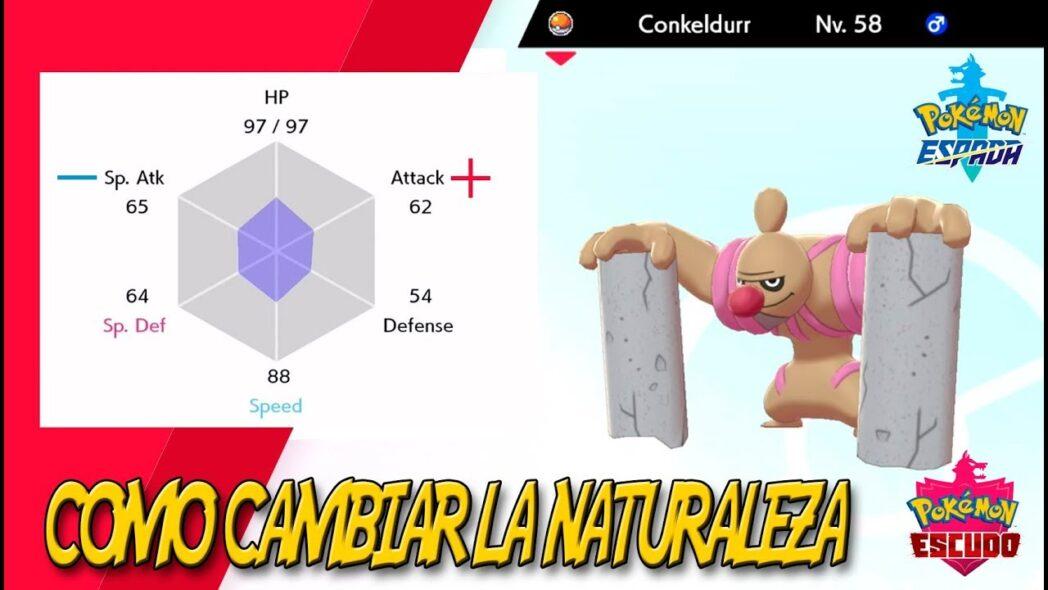 pokemon sword and shield como cambiar la naturaleza de pokemon