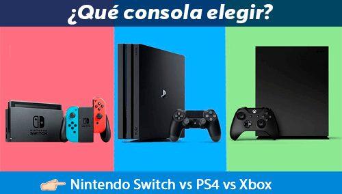 que elegir entre playstation xbox y nintendo como consola de juegos