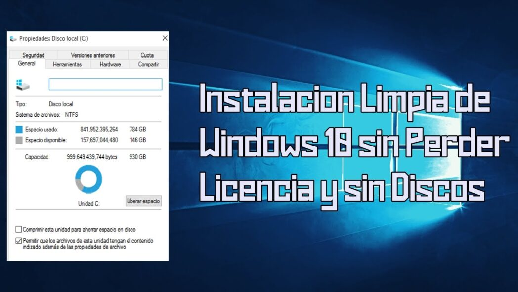 reinstale windows 10 sin un disco de instalacion