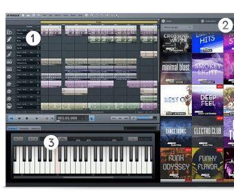 software gratuito magix music maker con sonidos sintetizador y teclado