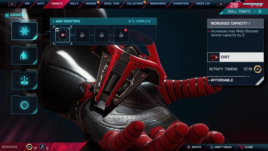 spider man miles morales todos los gadgets y actualizaciones
