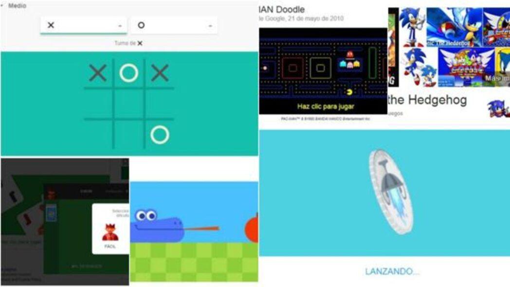todos los juegos ocultos en google para jugar en el motor de busqueda