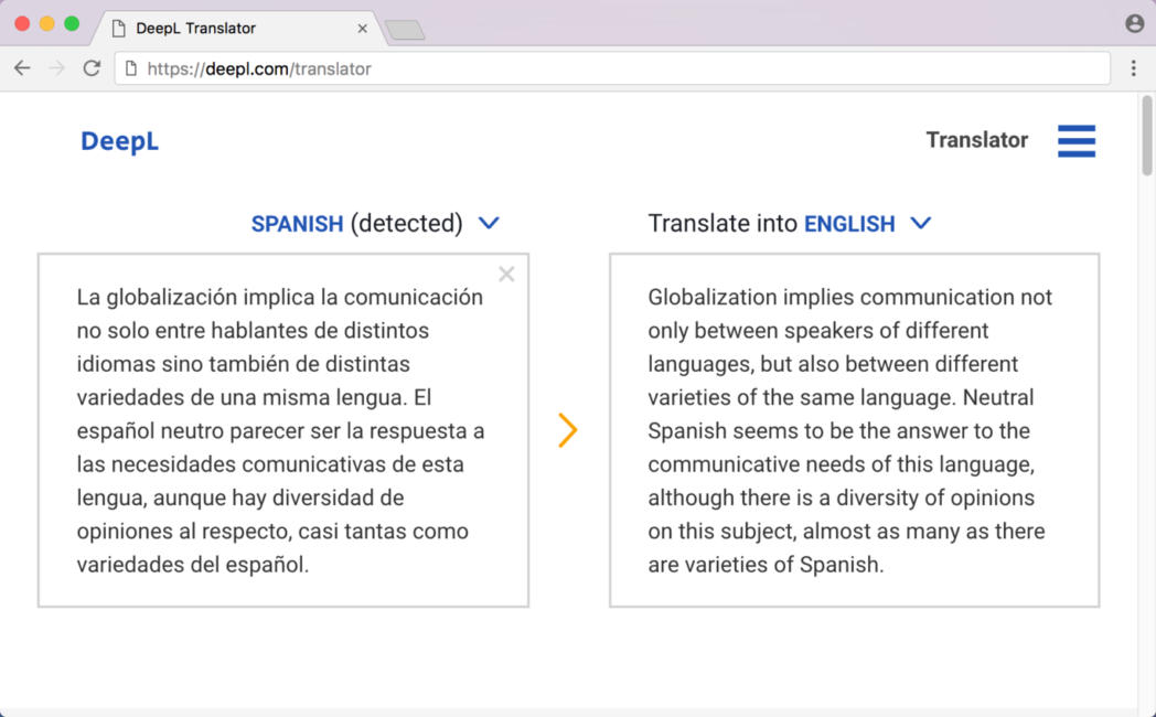 traduccion de texto mas natural y natural con deepl mejor que google translate