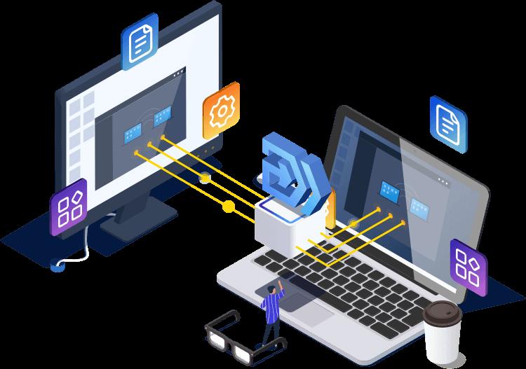 transferencia de programas de una pc a otra con migracion de software