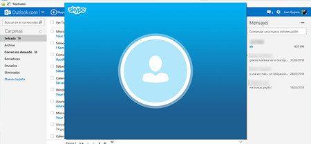 use skype en outlook com para chat y videollamadas
