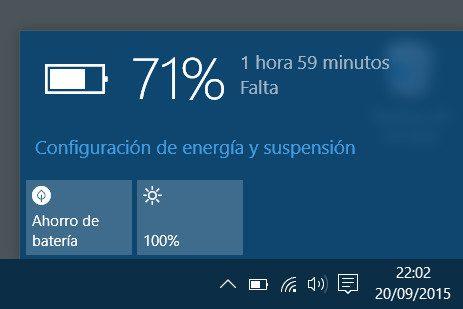 utilice el ahorro de bateria inteligente de windows 10 en la computadora portatil