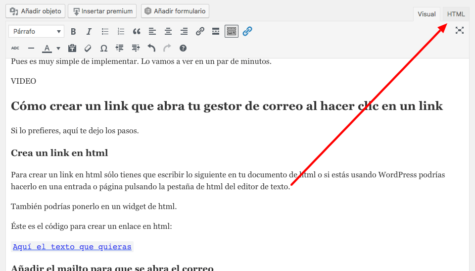 utilice gmail para abrir el enlace mailto en su pc