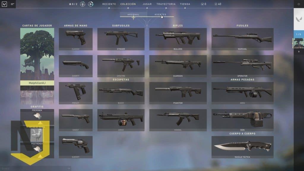 valorant una guia de las mejores armas del juego